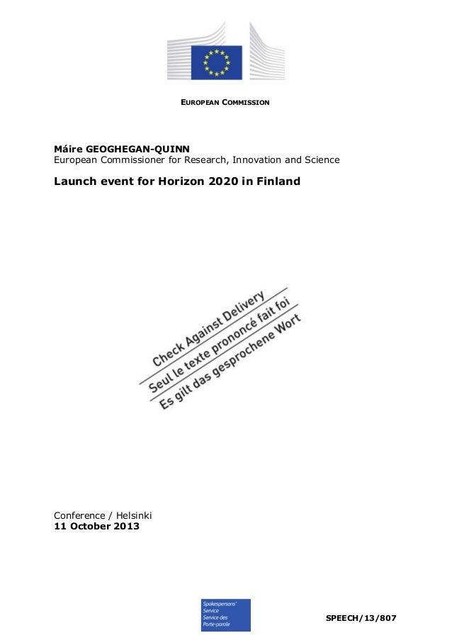 Launch horizonspeech 13-807 en