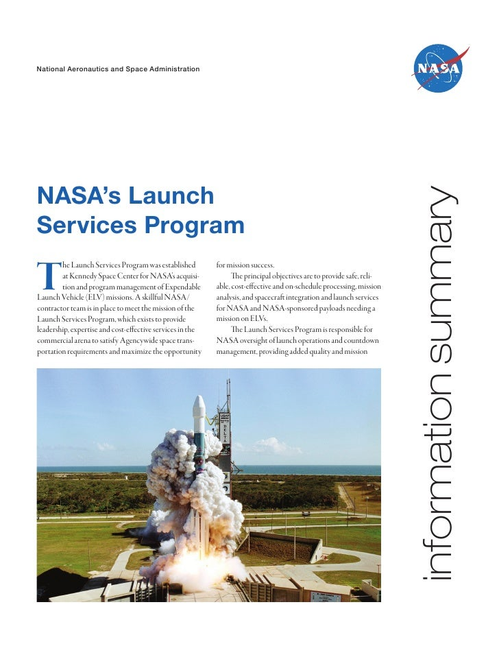 National Aeronautics and Space AdministrationNASA's Launch                                                                ...