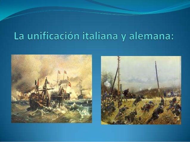 1.   Los nacionalismos.2.   La unificación italiana:     2.1 La situación geográfica     2.2 Factores de la unificación   ...
