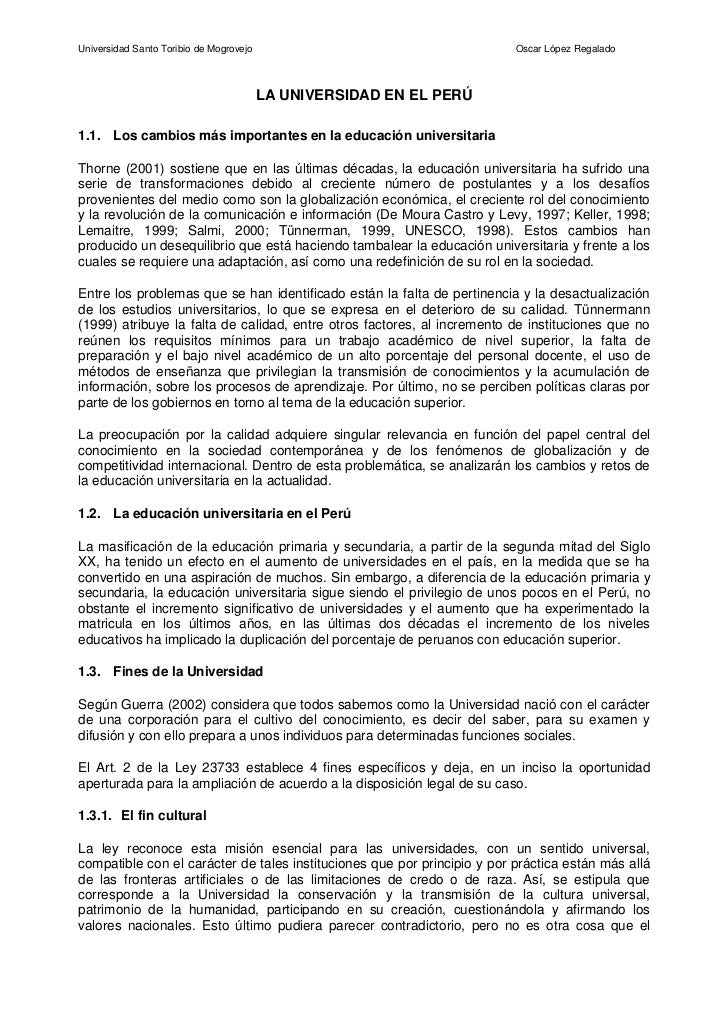 Universidad Santo Toribio de Mogrovejo                                    Oscar López Regalado                            ...