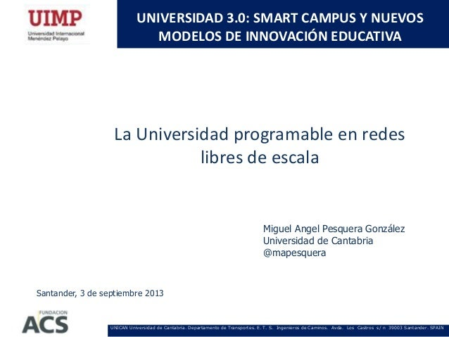 La universidad programable en redes libres de escala  map 2103