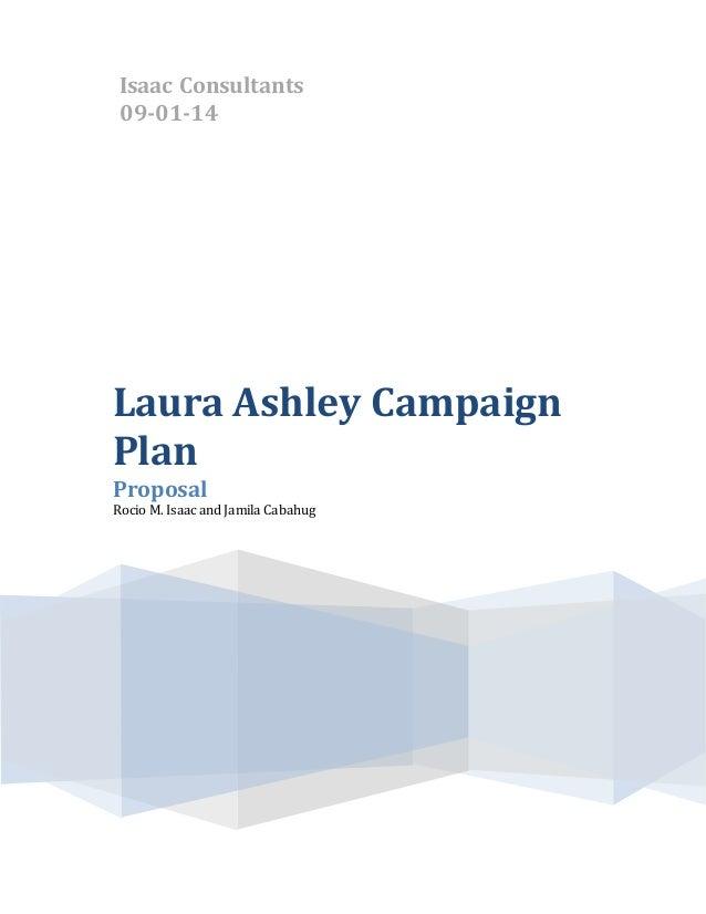Laura Ashley Integrated Marketing Communications Plan (Class Project)