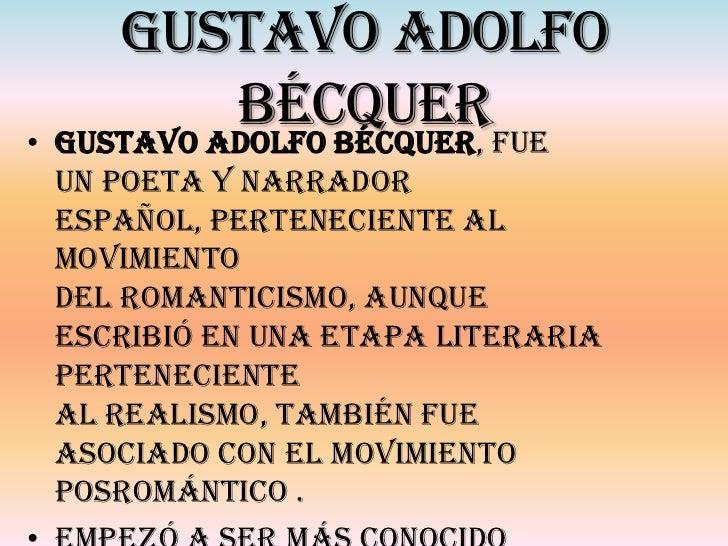 Gustavo Adolfo BecQuer que escribio