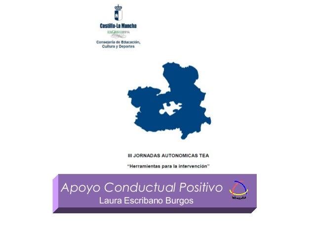Apoyo Conductual Positivo Laura Escribano Burgos