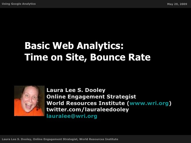 Basic Web Analytics: Time on Site and Bounce Rate