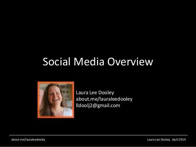 Laura Lee Dooley, April 2014about.me/lauraleedooley Social Media Overview Laura Lee Dooley about.me/lauraleedooley lldoolj...