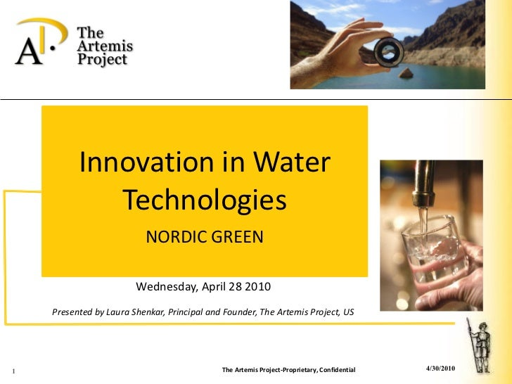 Innovation in Water              Technologies                           NORDIC GREEN                          Wednesday, A...