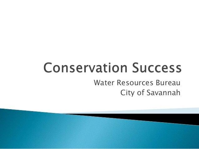 Water Resources Bureau City of Savannah