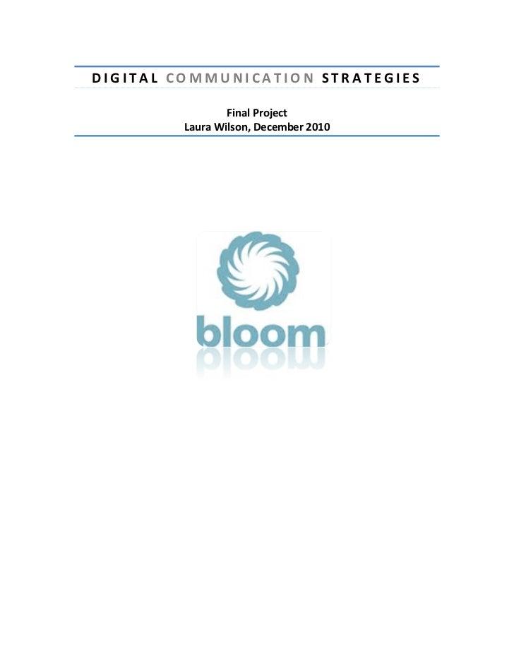 Bloom Digital Strategy Proposal