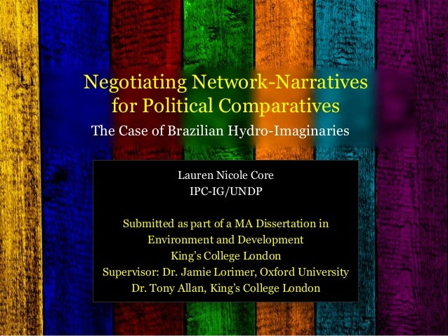 Negotiating Network-Narratives for Political Comparatives: The Case of Brazilian Hydro-Imaginaries