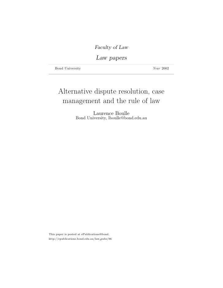 Laurence Boulle, Alternative Dispute Resolution and Mediation Skills