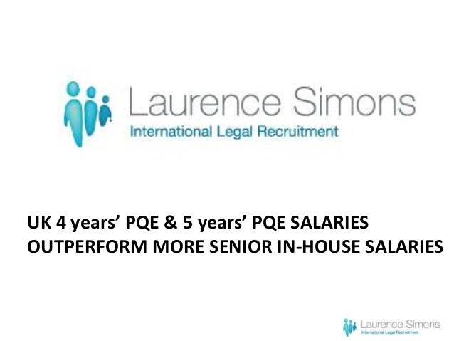 UK 4 years' PQE & 5 years' PQE SALARIES OUTPERFORM MORE SENIOR IN-HOUSE SALARIES