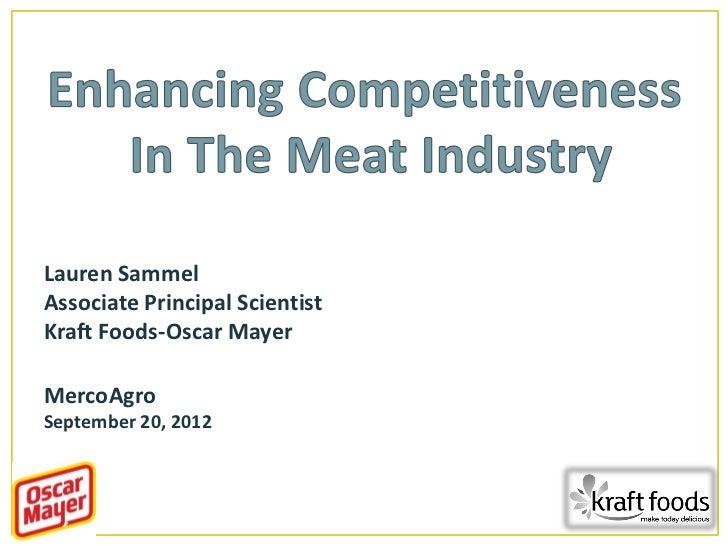 Melhorando a competitividade na indústria da carne