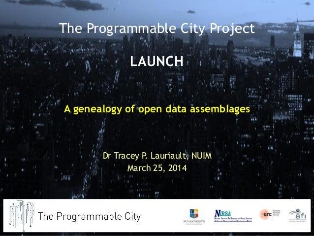 A Genealogy of an Open Data Assemblage