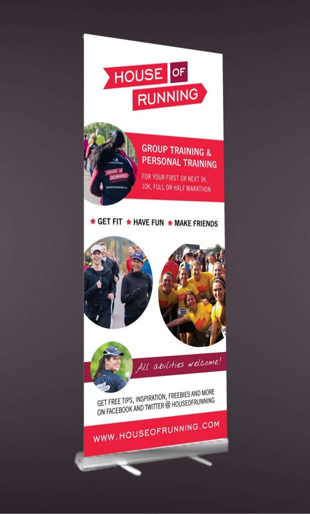 Roll-up Banner for House of Running