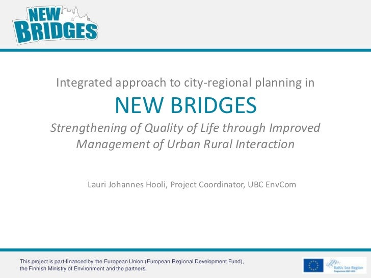 Integrated approach to city-regional planning in                                     NEW BRIDGES            Strengthening ...