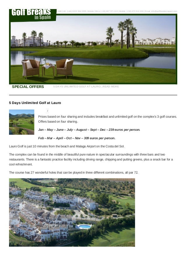 Golf Packages Lauro Golf Costa del Sol