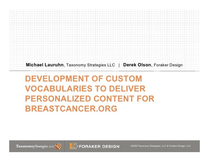 Developing Custom Vocabularies for Personalized Web Content