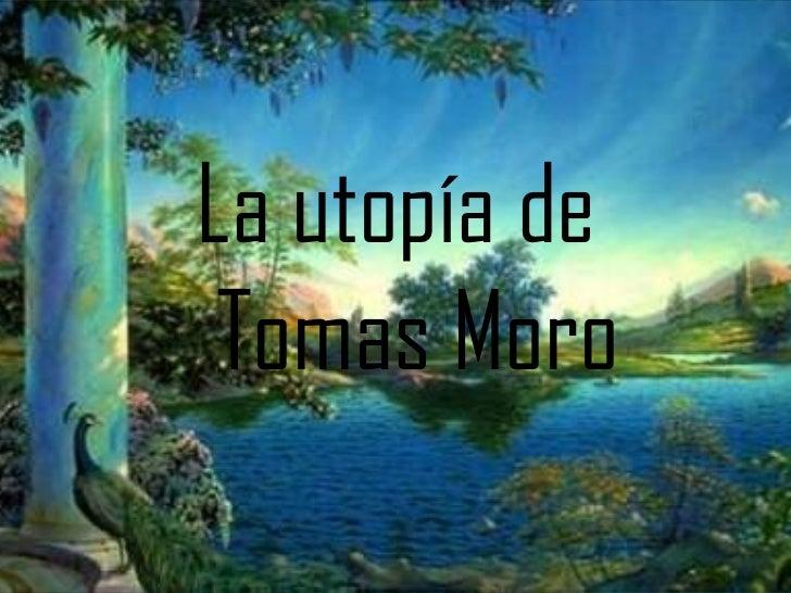 La utopía de Tomas Moro