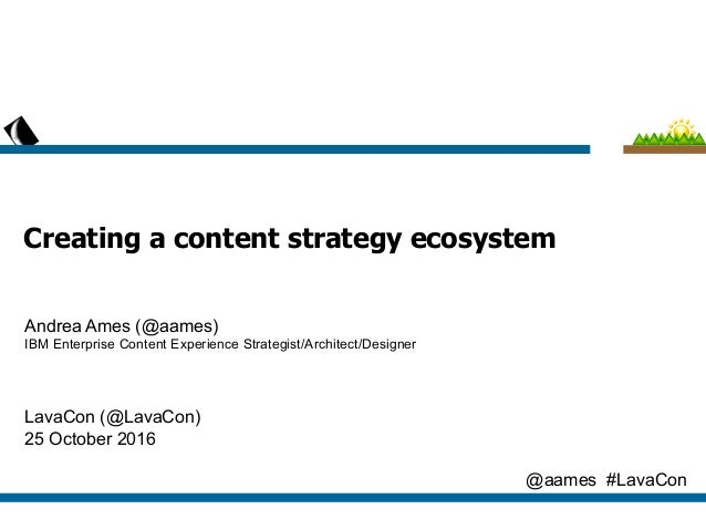 IBM Client Technical Content Experience (CTCX)  Creating a Content Strategy Ecosystem  Andrea L. Ames (@aames)  IBM Senior...