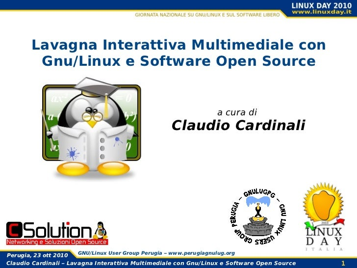Lavagna Interattiva Multimediale con         Gnu/Linux e Software Open Source                                             ...