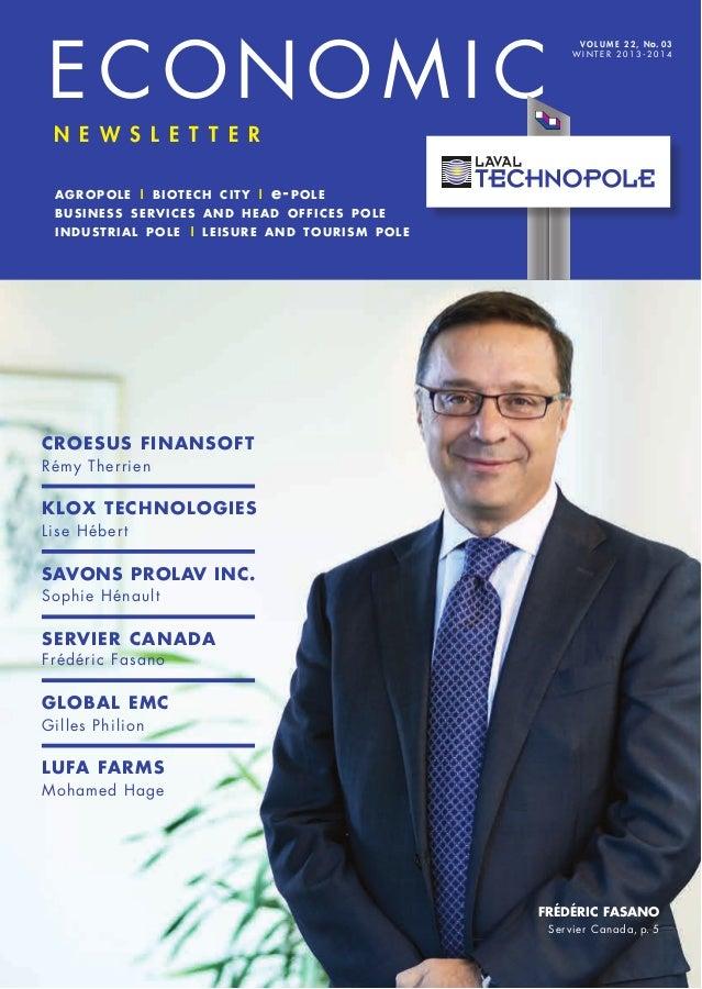 Laval technopole Economic Newsletter - Winter 2013-14