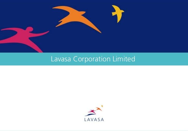 Lavasa Corporate Presentation January 2012