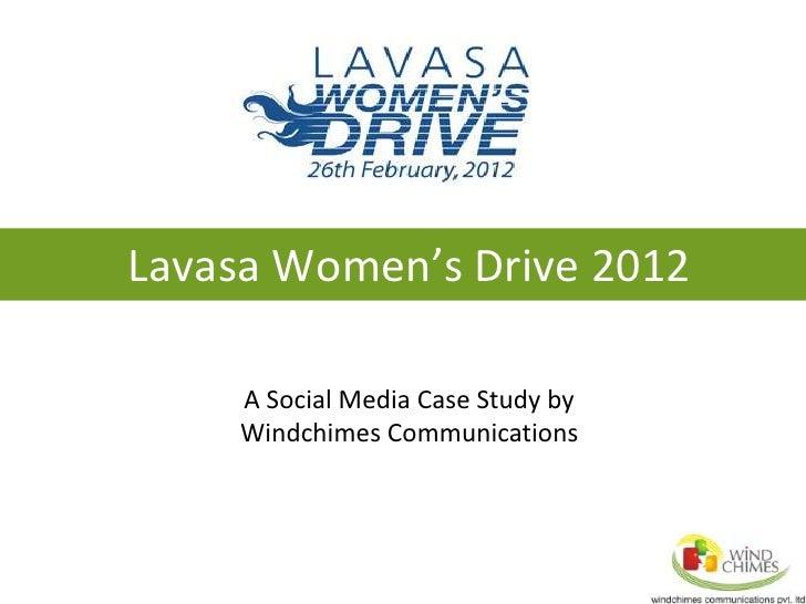 Social Media Case Study on Lavasa Women Drive 2012