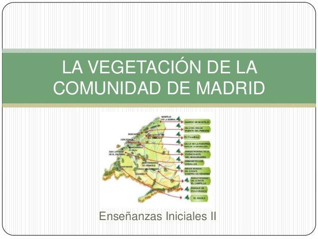Enseñanzas Iniciales II LA VEGETACIÓN DE LA COMUNIDAD DE MADRID