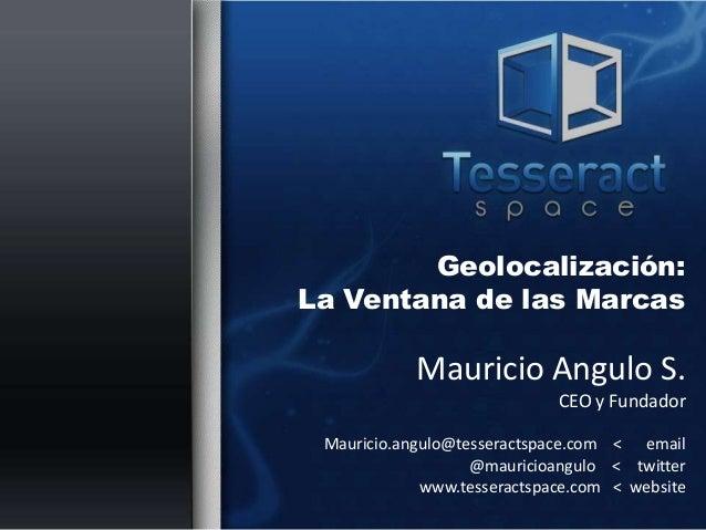 Foursquare. Prof. Mauricio Angulo
