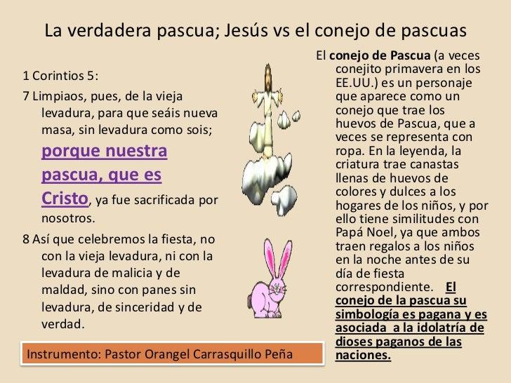La verdadera pascua; Jesús vs el conejo de pascuas                                                El conejo de Pascua (a v...