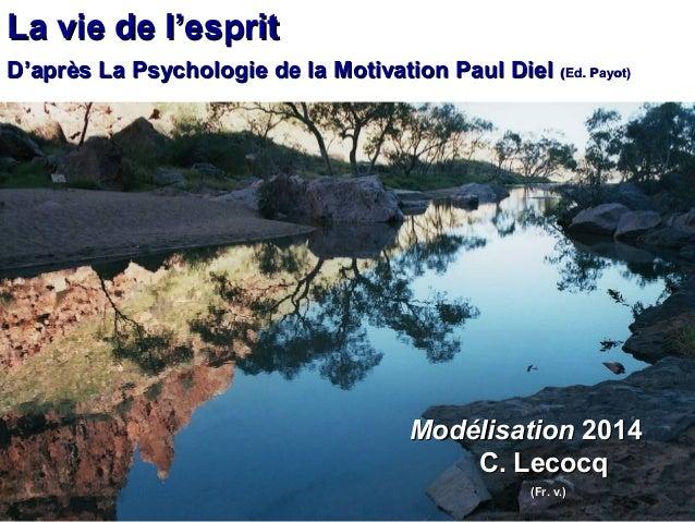 La vie de lLa vie de l''espritesprit DD''après La Psychologie de la Motivation Paul Dielaprès La Psychologie de la Motivat...