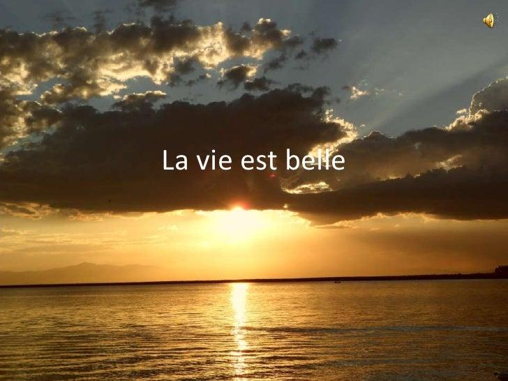 La vie est belle<br />