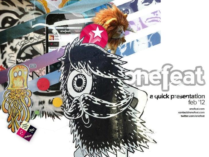 Onefeat : La vie est un terrain de jeu - Arnaud Ferreri - Onefeat