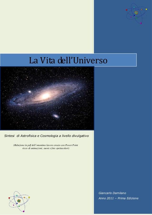 Giancarlo Damilano Anno 2011 – Prima Edizione La Vita dell'Universo Sintesi di Astrofisica e Cosmologia a livello divulgat...
