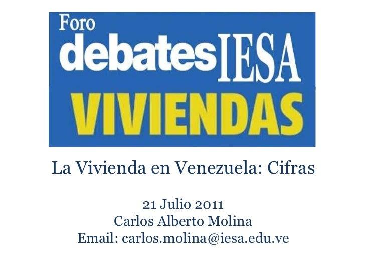 La vivienda en venezuela cifras carlos alberto_molina
