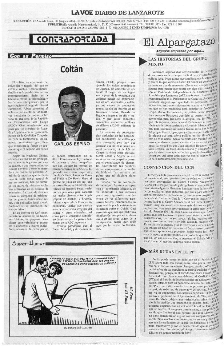 La voz   2005 10 14 - coltán