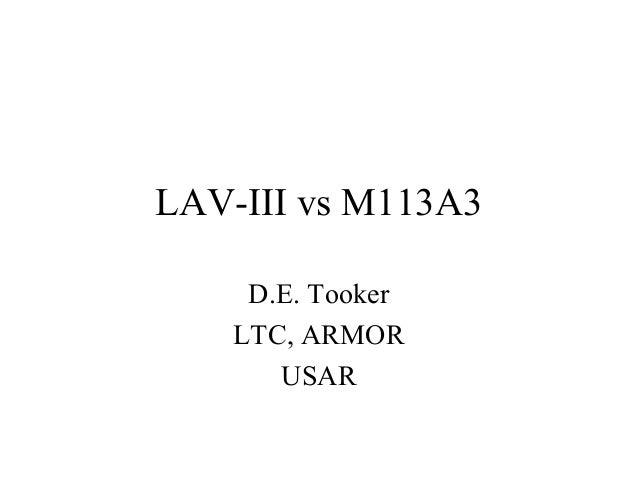LAVs vs. M113 Gavins: LTC Tooker v3.0