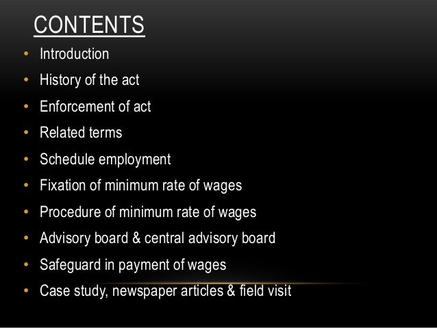 factories act 1948 case studies The trade union act, 1926, permits workers to join unions, the minimum wages act, 1948, guarantees a minimum wages, the factories act,1948, ensures a safe and healthy environment , the workmen's compensation act, 1923, offers compensation to injured workers, the payment of wages act, 1936, checks fraudulent practices.