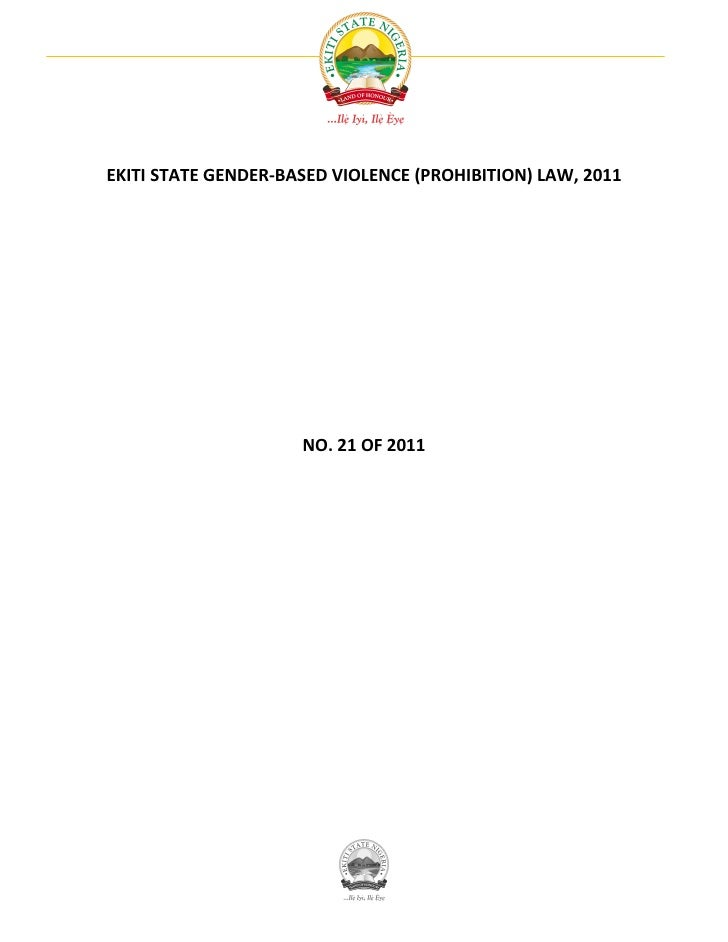 Ekiti State Gender-Based Violence (Prohibition) Law, 2011