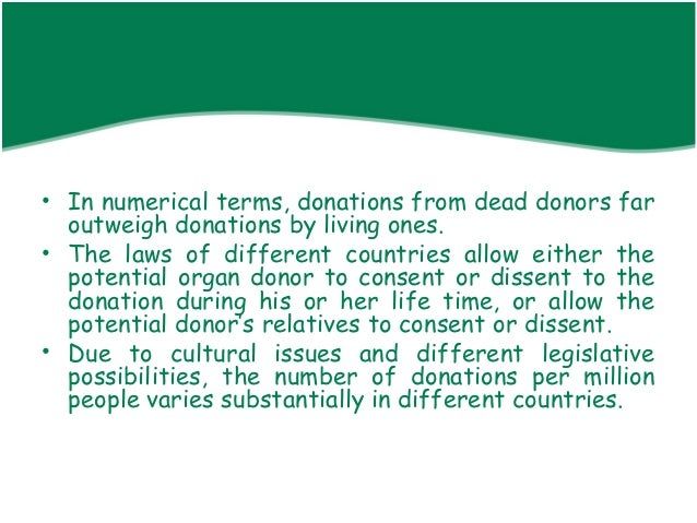 the anatomical gift act and an interest to be an organ donor Uniform state laws in preparing the uniform anatomical gift act (1987) was as  follows:  competing interests in a dead body must be harmonized, and several   transplantation pursuant to the 1984 national organ transplant act – pl.