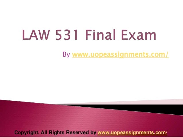 law 531 final exam answers free