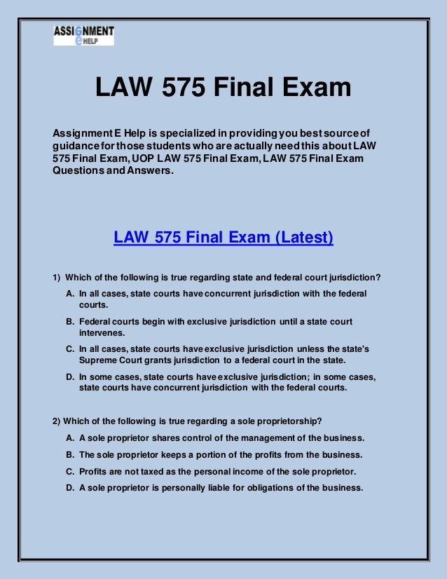 law exam questions Everyone wants to do well on law school exams, but but curve makes it tough to rise to the top here are our best tips for law school exam success.