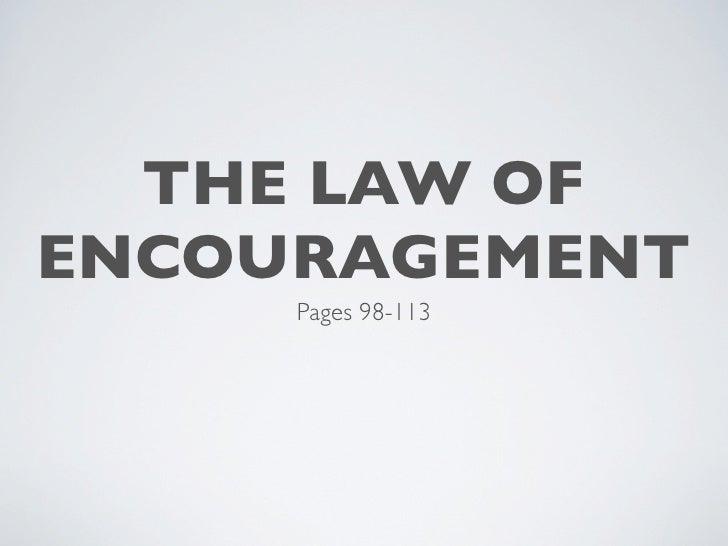 Howard Hendricks: The Law of Encouragement