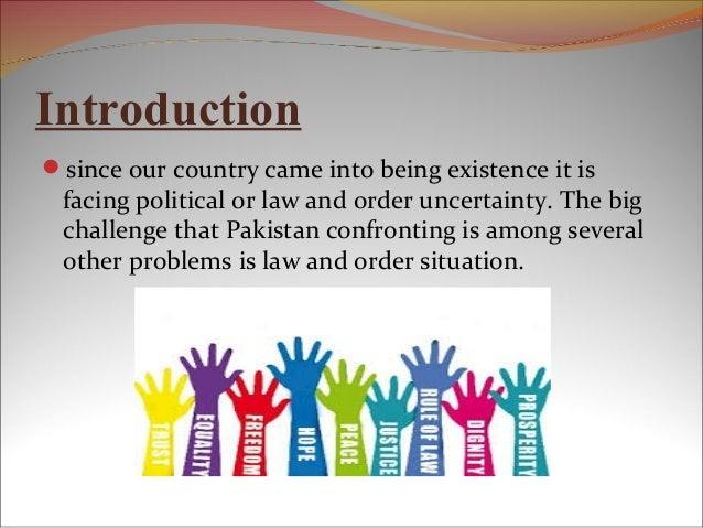 Law and order in pakistan essay in urdu