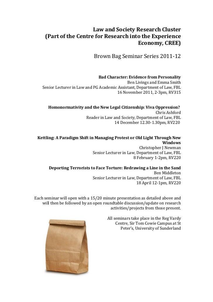 Law and society brown bag 2011 12