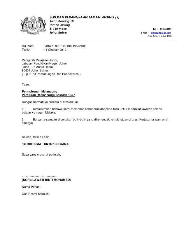 Ruj Kami : JBA 1080/PRA/100-19/7/2(01) Tarikh : 1 Oktober 2012 Pengarah Pelajaran Johor, Jabatan Pendidikan Negeri Johor, ...