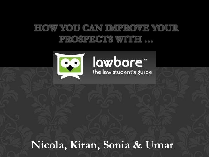 HOW YOU CAN IMPROVE YOUR    PROSPECTS WITH …Nicola, Kiran, Sonia & Umar