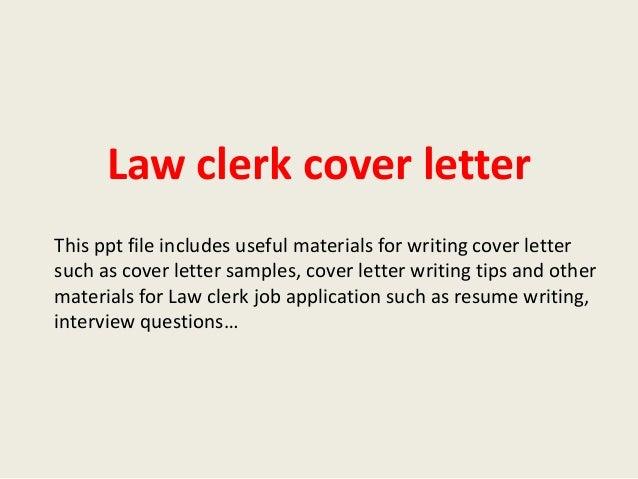 judicial law clerk cover letter - Vatoz.atozdevelopment.co