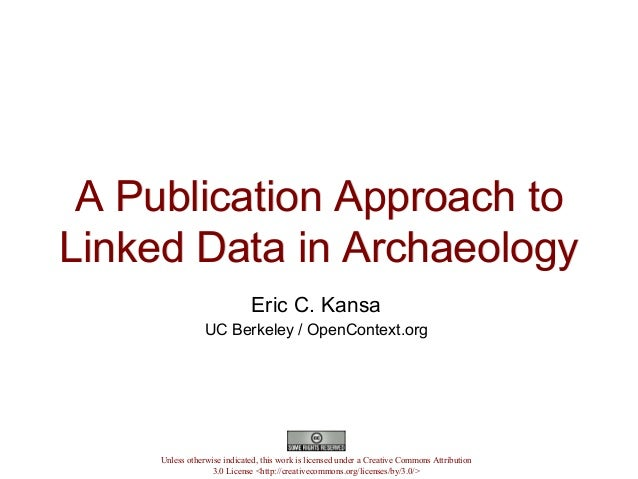 #LAWDI Open Context, publishing linked data in archaeology